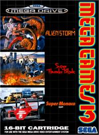 Box cover for Mega Games 3 on the Sega Genesis.