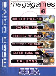 Box cover for Mega Games 6 Vol. 2 on the Sega Genesis.
