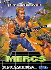 Box cover for Mercs on the Sega Genesis.