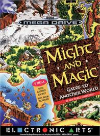 Box cover for Might and Magic 2: Gates to Another World on the Sega Genesis.