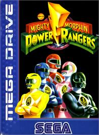Box cover for Mighty Morphin Power Rangers on the Sega Genesis.
