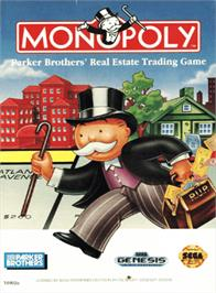 Box cover for Monopoly on the Sega Genesis.