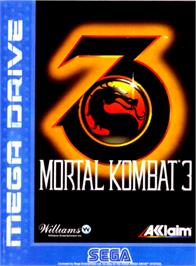 Box cover for Mortal Kombat 3 on the Sega Genesis.