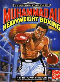 Box cover for Muhammad Ali Heavyweight Boxing on the Sega Genesis.