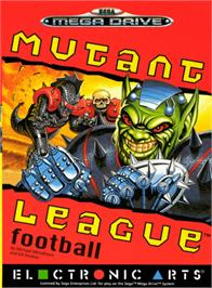 Box cover for Mutant League Football on the Sega Genesis.