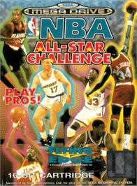 Box cover for NBA All-Star Challenge on the Sega Genesis.
