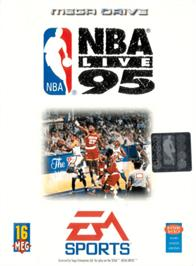 Box cover for NBA Live '95 on the Sega Genesis.
