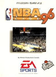 Box cover for NBA Live '96 on the Sega Genesis.
