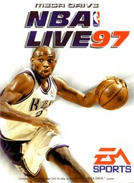 Box cover for NBA Live '97 on the Sega Genesis.