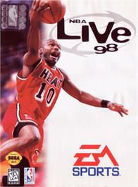 Box cover for NBA Live '98 on the Sega Genesis.