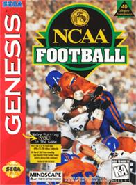 Box cover for NCAA Football on the Sega Genesis.