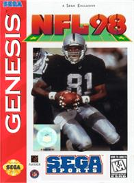 Box cover for NFL 98 on the Sega Genesis.