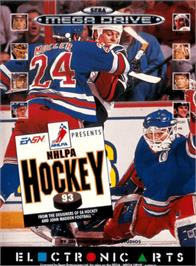 Box cover for NHLPA Hockey '93 on the Sega Genesis.