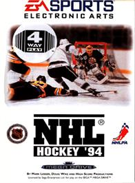 Box cover for NHL '94 on the Sega Genesis.