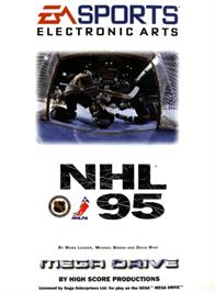 Box cover for NHL '95 on the Sega Genesis.