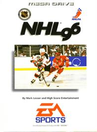 Box cover for NHL '96 on the Sega Genesis.