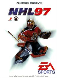 Box cover for NHL '97 on the Sega Genesis.