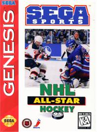 Box cover for NHL All-Star Hockey '95 on the Sega Genesis.