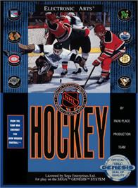 Box cover for NHL Hockey on the Sega Genesis.