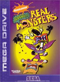 Box cover for Nickelodeon: Aaahh!!! Real Monsters on the Sega Genesis.