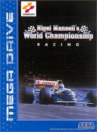 Box cover for Nigel Mansell's World Championship on the Sega Genesis.