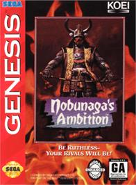 Box cover for Nobunaga's Ambition on the Sega Genesis.