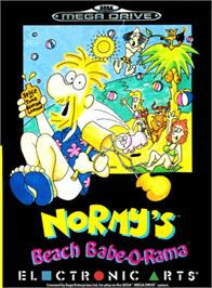 Box cover for Normy's Beach Babe-O-Rama on the Sega Genesis.