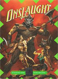 Box cover for Onslaught on the Sega Genesis.