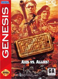 Box cover for Operation Europe: Path to Victory 1939-45 on the Sega Genesis.