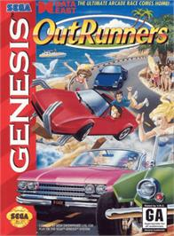 Box cover for OutRunners on the Sega Genesis.