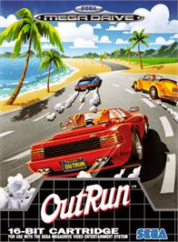 Box cover for Out Run on the Sega Genesis.