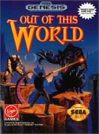 Box cover for Out of This World on the Sega Genesis.