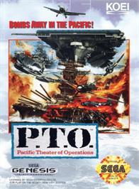 Box cover for P.T.O.: Pacific Theater of Operations on the Sega Genesis.