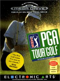 Box cover for PGA Tour Golf on the Sega Genesis.