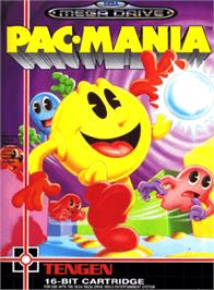 Box cover for Pac-Mania on the Sega Genesis.