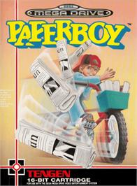 Box cover for Paperboy on the Sega Genesis.