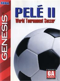 Box cover for Pelé II: World Tournament Soccer on the Sega Genesis.