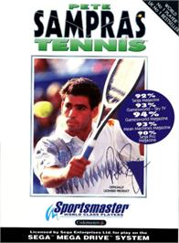 Box cover for Pete Sampras Tennis on the Sega Genesis.