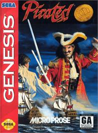 Box cover for Pirates! Gold on the Sega Genesis.