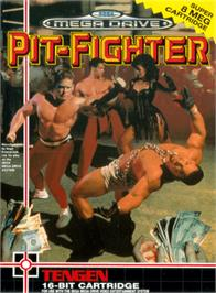 Box cover for Pit Fighter on the Sega Genesis.