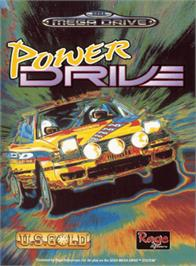 Box cover for Power Drive on the Sega Genesis.