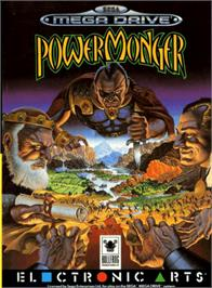 Box cover for Powermonger on the Sega Genesis.