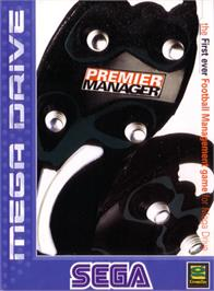 Box cover for Premier Manager on the Sega Genesis.