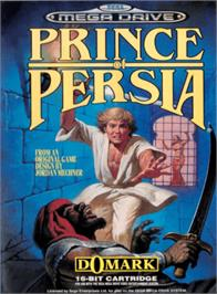 Box cover for Prince of Persia on the Sega Genesis.