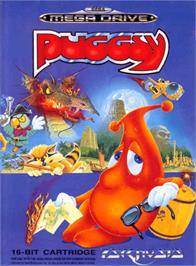 Box cover for Puggsy on the Sega Genesis.