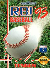 Box cover for R.B.I. Baseball '93 on the Sega Genesis.