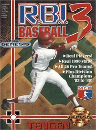 Box cover for RBI Baseball 3 on the Sega Genesis.