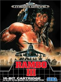 Box cover for Rambo III on the Sega Genesis.
