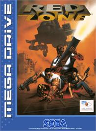 Box cover for Red Zone on the Sega Genesis.