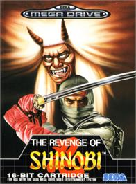 Box cover for Revenge of Shinobi, The on the Sega Genesis.